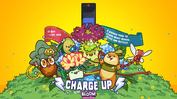 Charge up with Bloom! At Gardens by the Bay