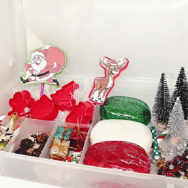 Christmas-themed Playdough Kit by Twiddly Fiddly