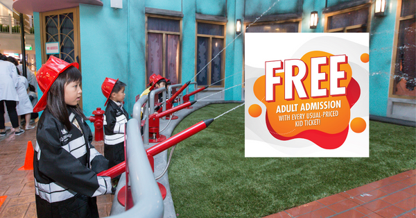 KidZania Singapore March Promotion: Adult Enter for Free