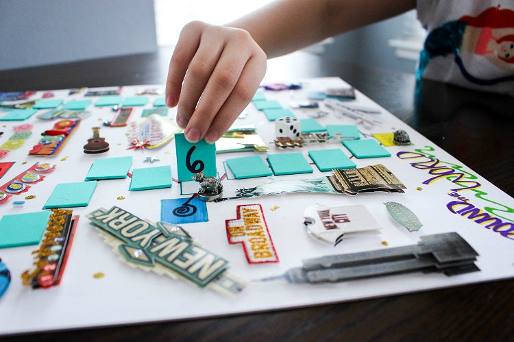 Board Games You can Make at Home - DIY Board Game by at the fire hydrant