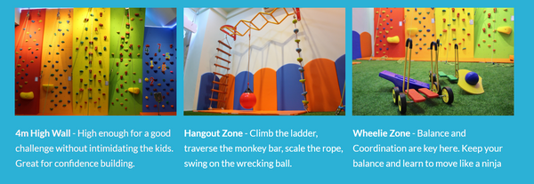 I would like to share our boy's rock climbing experience at My Little Climbing room. The place is suitable for young children to build their confidence and rock climbing skills.