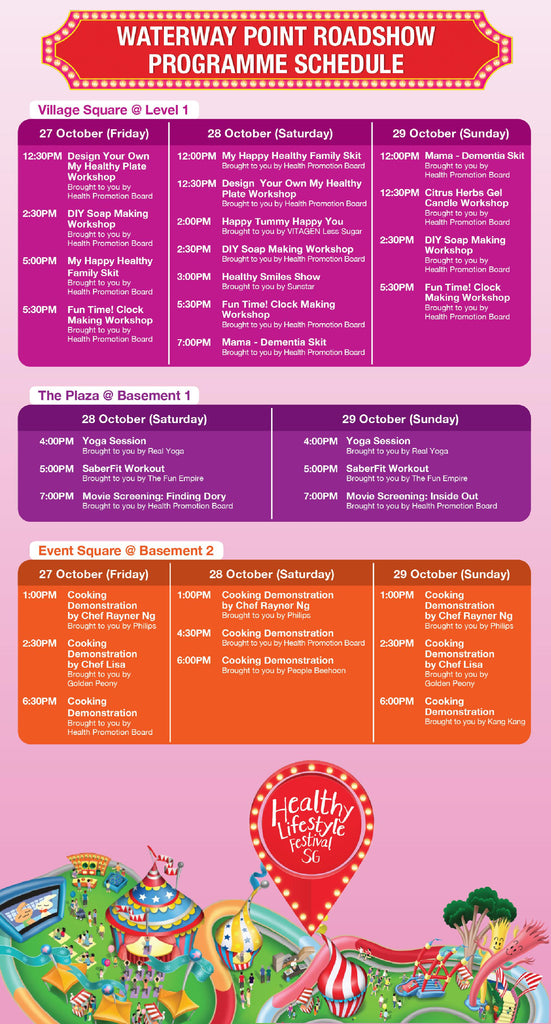 Waterway Point Healthy Festival Programme