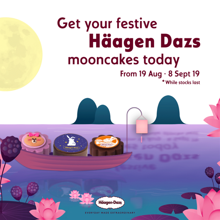 Character mooncakes: Multiple themes – Häagen-Dazs