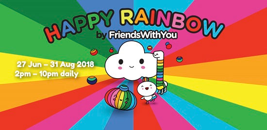 Happy Rainbow by FriendsWithYou has Popped Up at Resorts World Sentosa!