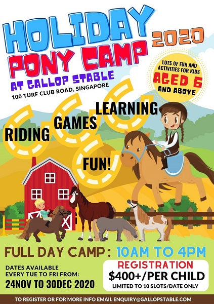 Holiday Pony Camp 2020 at Gallop Stable