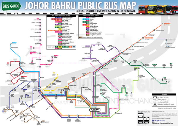 Getting Around in Johor Bahru - Local bus route
