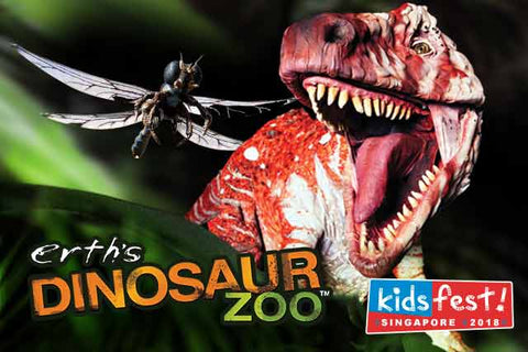 Things to do this Weekend: Immerse in Enchanting Theatre with Your LOs @ KidsFest 2018! - Dinosaur Zoo
