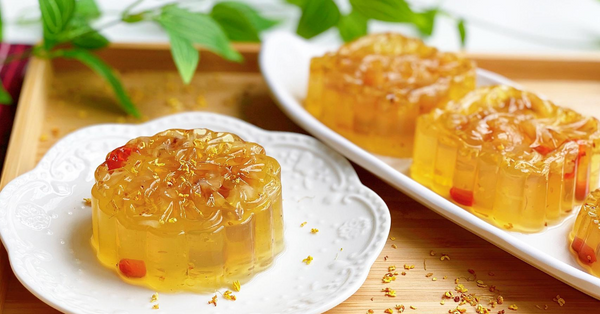 Moonfest 2020 - DIY Osmanthus Flower & Longan Jelly Mooncake