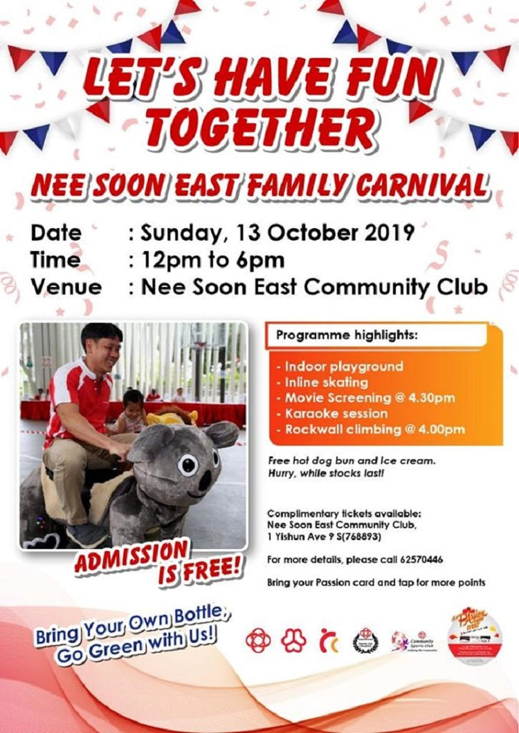 Have a Jolly Good Time at The Nee Soon East Family Carnival