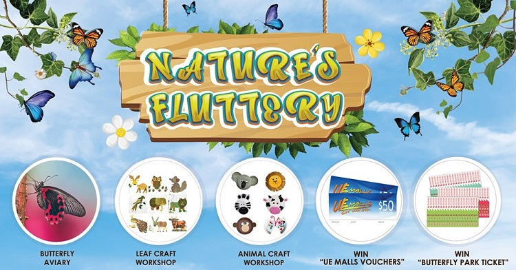 Marvel at Colorful Butterflies at Nature's Fluttery at UE Square!