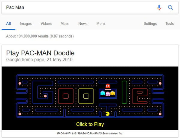 7 Google Search Games to Amuse Your Little Ones - PAC-MAN