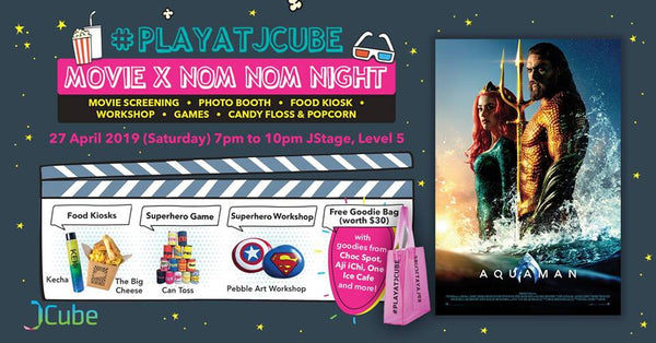 Bring Your Little Ones to JCube for Movie x Nom Nom Night 2019!