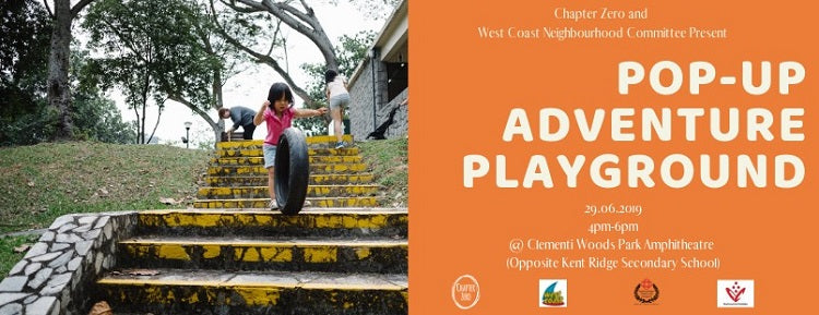 Check Out the Pop-Up Adventure Playground at Clementi Woods Park!