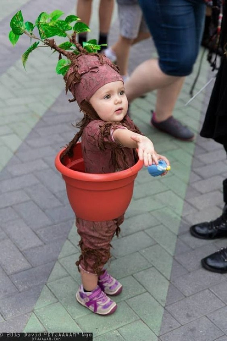 Easy and Creative Halloween Costume Ideas for Kids Better Than Buying - Potted Plant