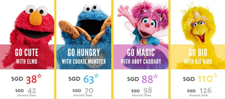 Sesame Street Run Singapore 2019 Race Category & Runner's Entitlements