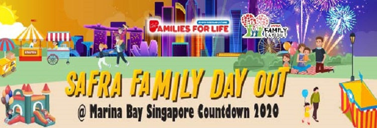 SAFRA Family Day Out @ Marina Bay Singapore Countdown 2020
