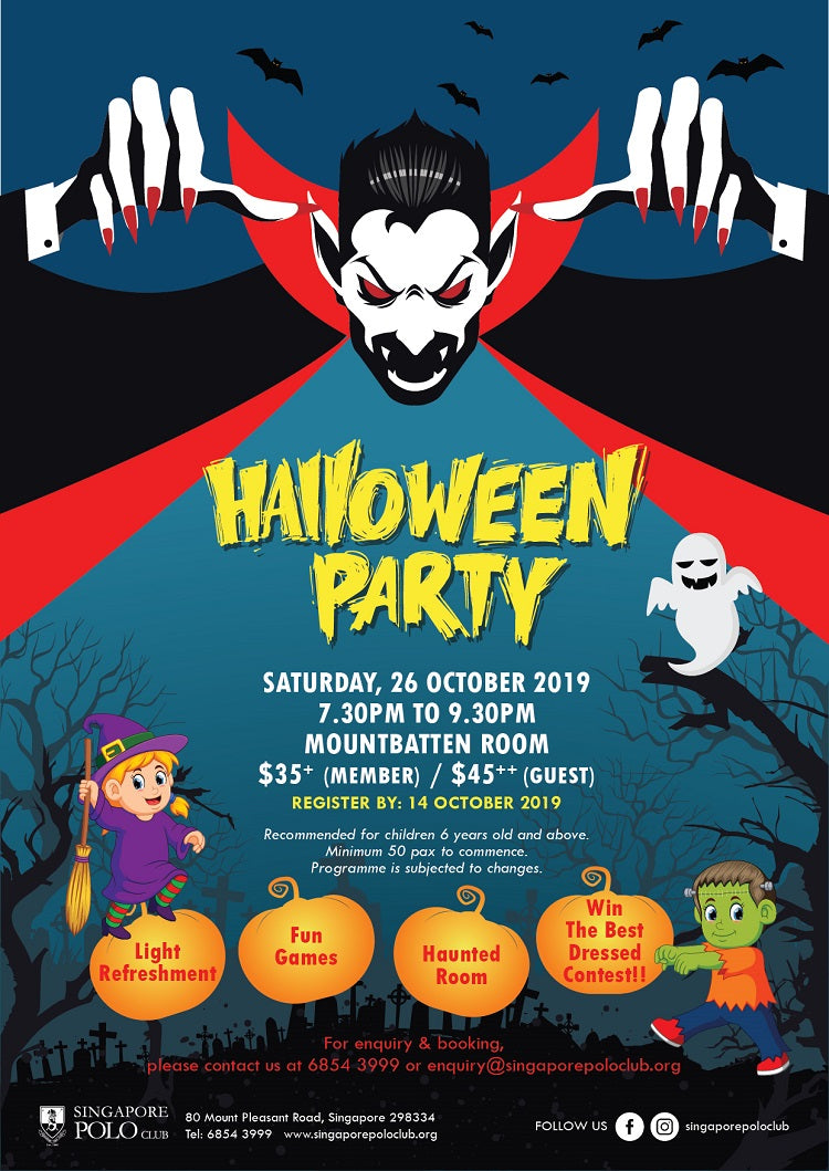 Kids-friendly Halloween Events - Singapore Polo Club Halloween Party