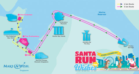 Things to do this Weekend: Santa Run for Wishes 2017 - route