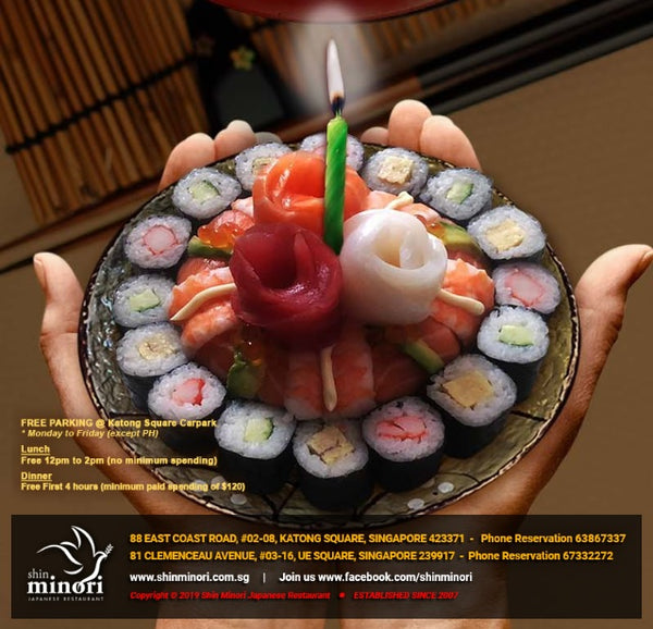 Free Japanese Ala-Carte Lunch Buffet at Shin Minori