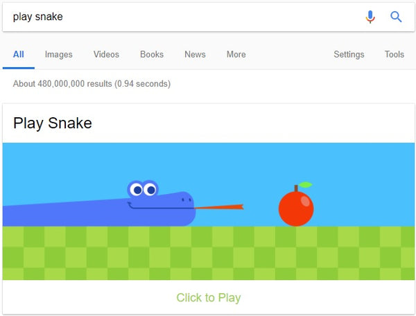 7 Google Search Games to Amuse Your Little Ones - Snake