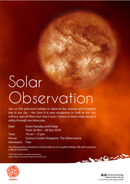 Solar Observation at Science Centre Singapore