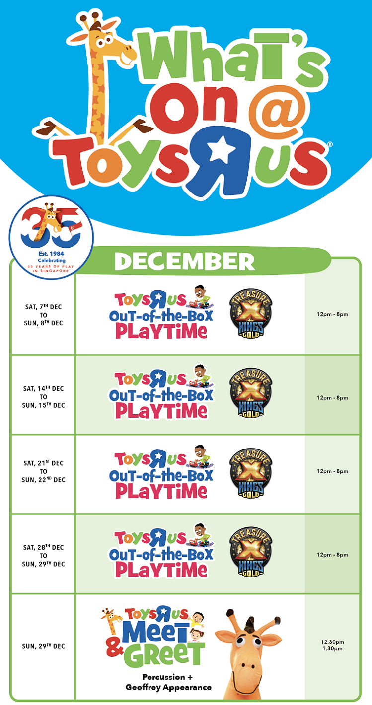 Toys R Us Out-of-the-Box Playtime: Tampines