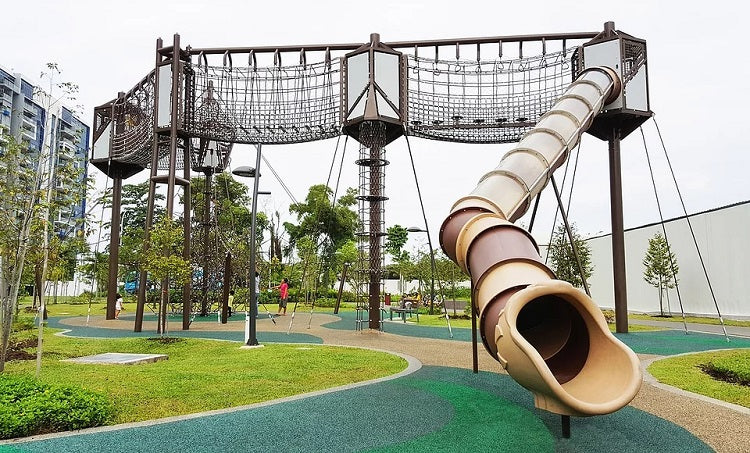 Free Outdoor Playgrounds in the East - Tampines Green Forest Park Playground