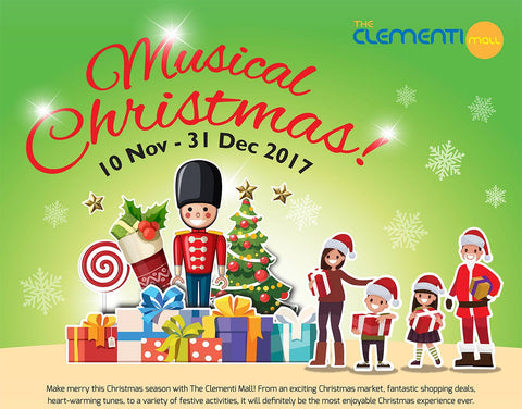 Things to do this Weekend: Celebrate Christmas in Malls - Clementi Mall