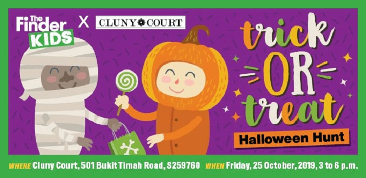 Kids-friendly Halloween Events 2019 - The Finder Kids' x Cluny Court Trick or Treat Halloween Hunt