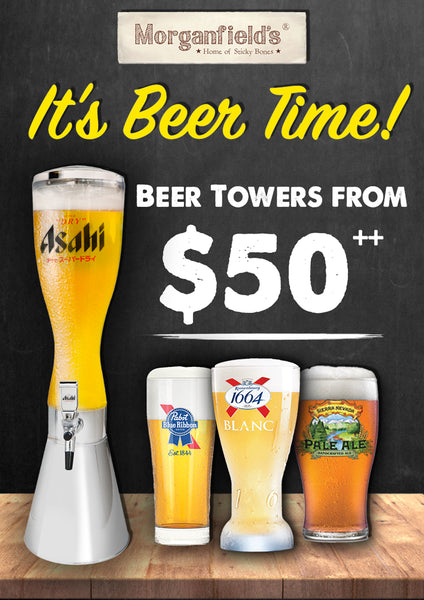 Toast to a New Year with Morganfield's New Beer Towers at Suntec City