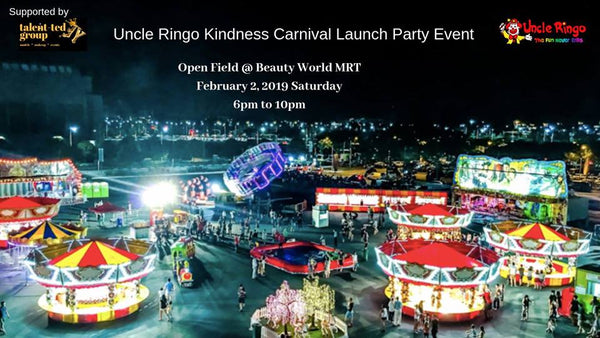 Have a Jolly Good Time at Uncle Ringo Kindness Carnival Launch Party!