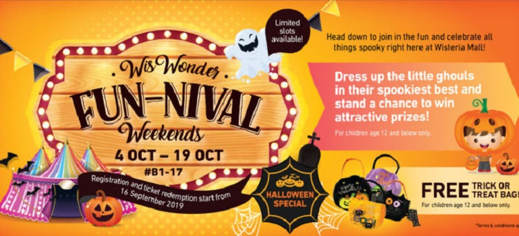 Kids-friendly Halloween Events 2019 - WisWonder Fun-Nival Weekends at Wisteria Mall