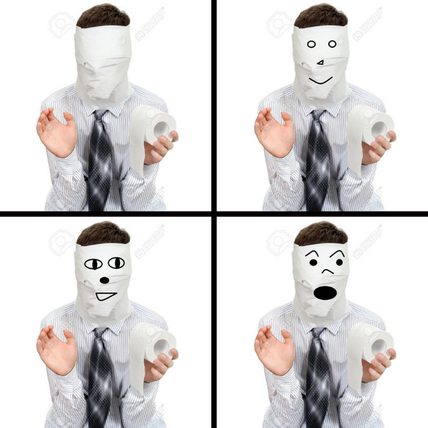 Toilet Paper Face Masks