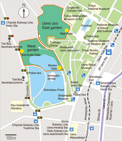 Ueno Zoo - How to get there and Location