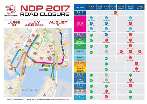 National Day Road Closure 2017