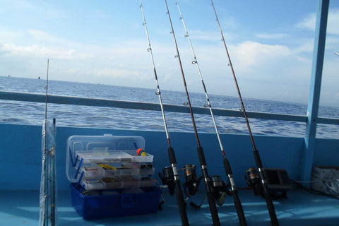Family fishing in Lombok