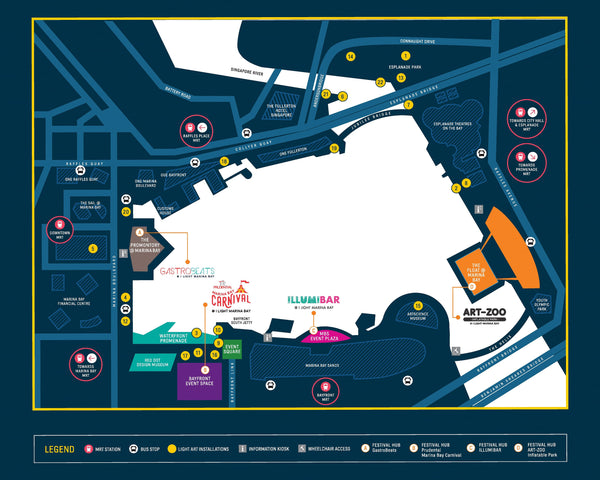 i Light Marina Bay 2018 - Map