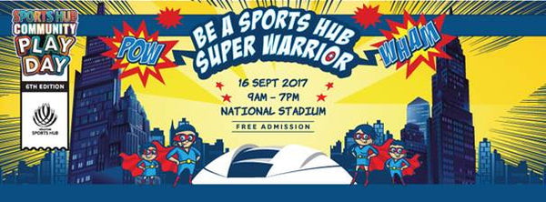 BE A SUPER WARRIOR AT SPORTS HUB COMMUNITY PLAY DAY
