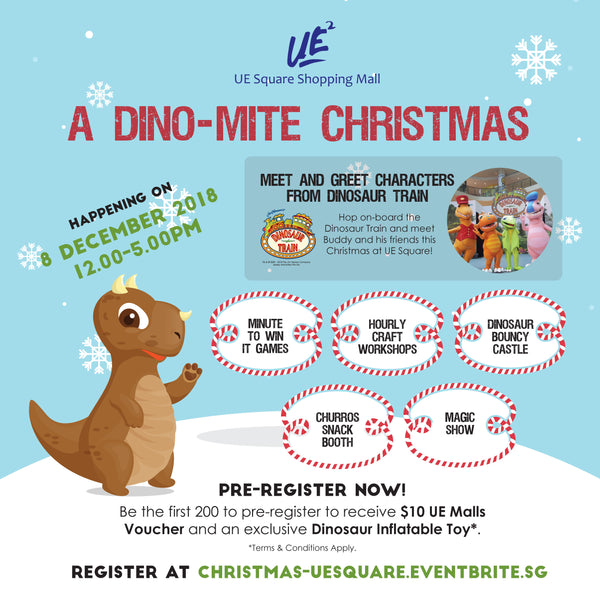 A Dino-Mite Christmas at UE Square Shopping Mall