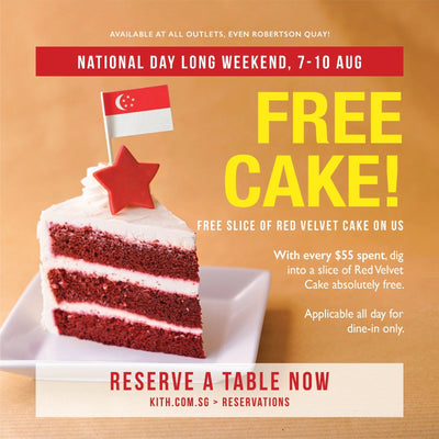 Kith Cafe: Free Slice of Red Velvet Cake With Every $55 Spent