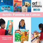 Artzillions: 2 Acrylic Painting on Canvas Sessions @ $70 (U.P. $110)