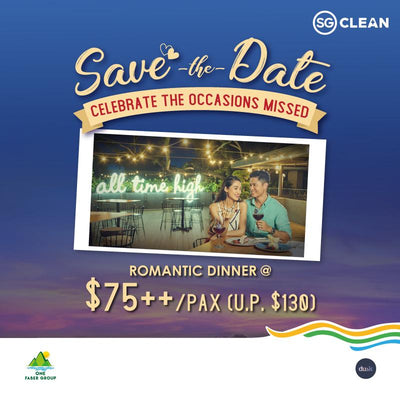 Welcome Back: Dusk 3-Course Romantic Dinner @ $75++