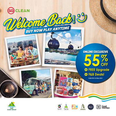 Welcome Back: 55% Off Tickets for Singapore Cable Car and the Sentosa Island Bus Tour Rides