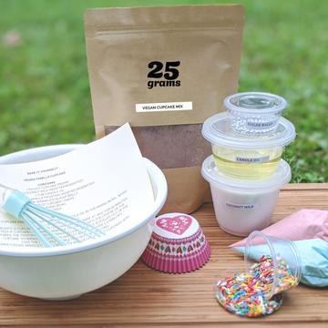 25Grams Bakery: Bake It Yourself Vegan Cupcake Kit @ $50 (U.P. $58)