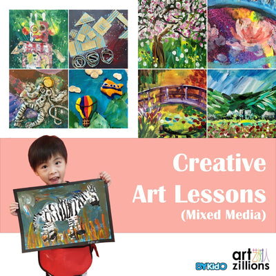Artzillions: 2 Mixed Media Creative Art Sessions @ $52 (U.P. $100)