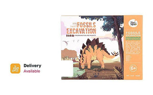 Mix n Match: 2 Dinosaurs (Stegosaurus/ T-Rex) Fossil Excavation Art Experience Kits @ just $48, Inclusive Of Delivery
