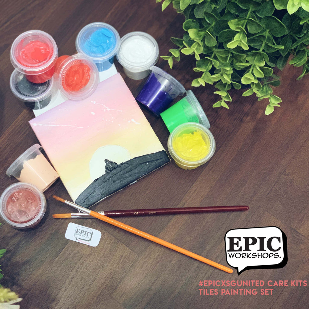 EPIC Workshops- Tiles Painting Experience Kit @ $30 - BYKidO