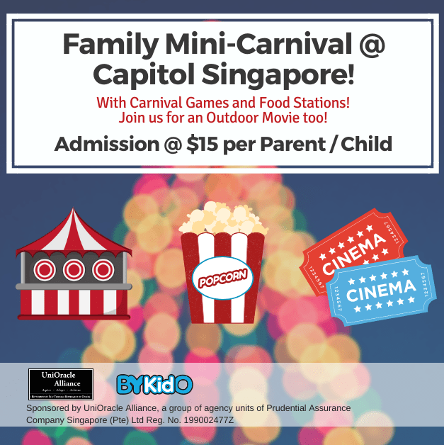 #PlayWithBYKidO Event | Family Mini Carnival @ Capitol Singapore, Outdoor Plaza for just $15