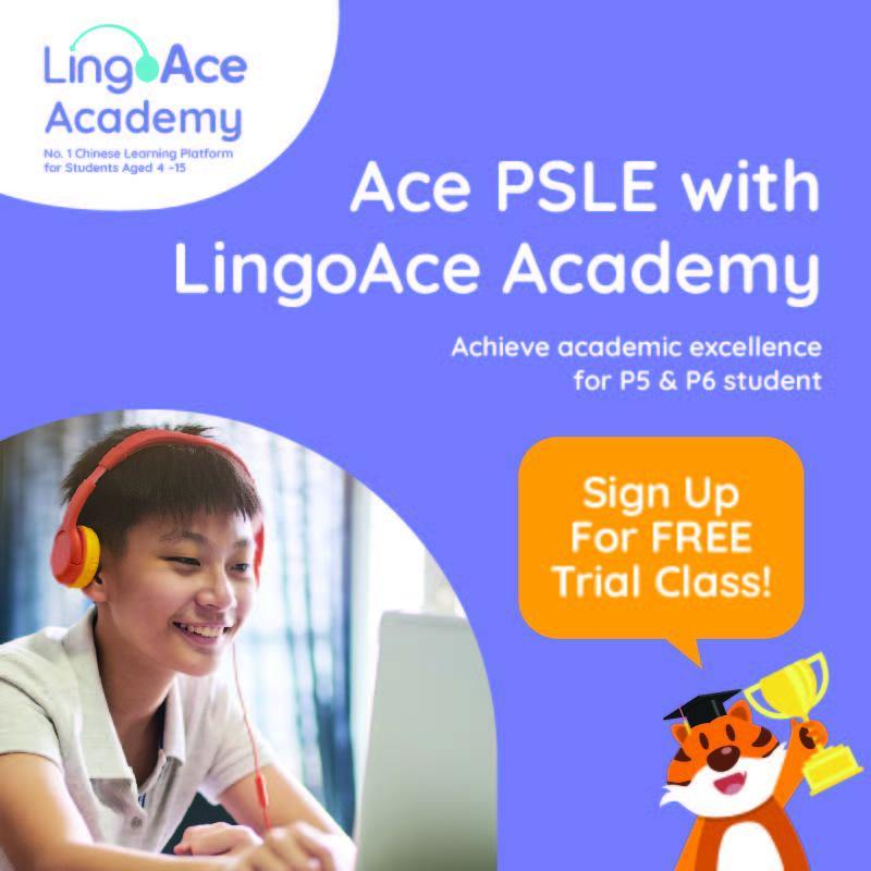 [FREE TRIAL] Ace PSLE Chinese With LingoAce: FREE Online Chinese Trial Class, worth $60!