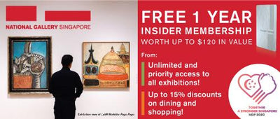 National Gallery Singapore: FREE 1 Year Gallery Insider Membership (U.P. $120)
